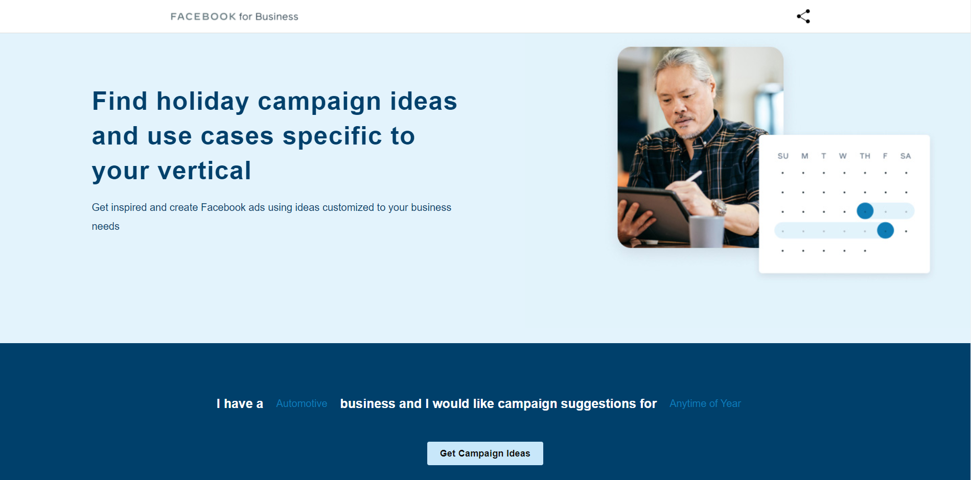 Content Creation through Facebook Campaign Ideas Generator